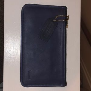 Coach Vintage Blue Skinny Case Wallet
